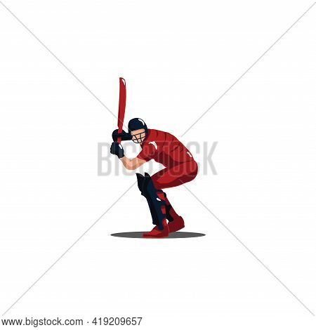 Cricket Athlete Getting Ready To Receive The Ball On Cricket Game - Sport Man Cartoon Getting Ready