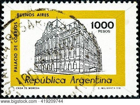 Argentina - Circa 1979 : Cancelled Stamp Printed By Argentina, That Shows Buenos Aires, Circa 1979