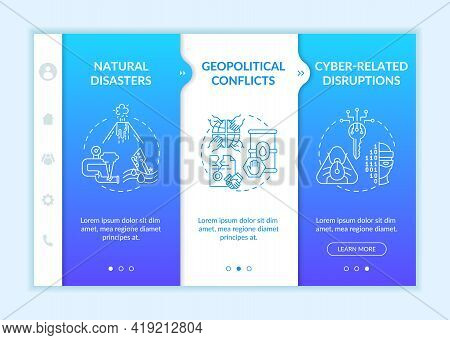 Energetic Security Threats Onboarding Vector Template. Responsive Mobile Website With Icons. Web Pag