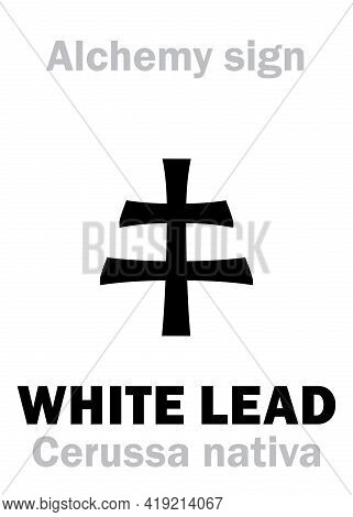 Alchemy Alphabet: White Lead (cerussa Nativa), Also Eq.: Spirits Of Saturn. Lead Carbonate, Cerussit