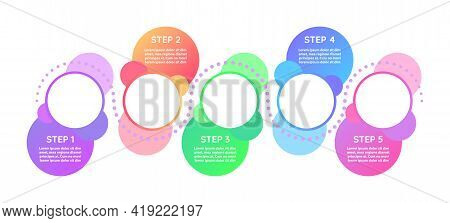 Marketing Vector Infographic Template. Creative Gradient Presentation Design Elements With Text Spac