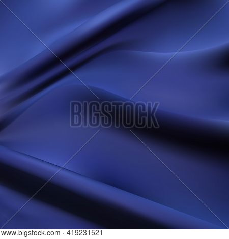 Texture Of The Satin Fabric With Folds. Vector Illustration