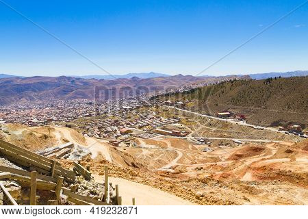 Potosi Aerial View,bolivia. Bolivian Mining City View