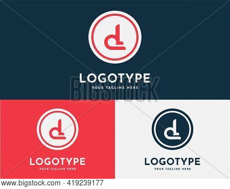 Lowercase Letter D, Dp Logistics, Shipping, Or Delivery Logo, Or Icon. Initial Letter D Sign With Al