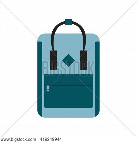 Colored Travel Backpacks Isolated On White Background. Vector Illustration