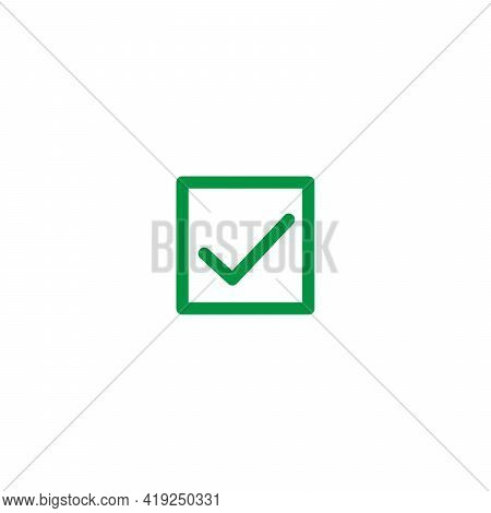 Linear Check Icon. Approved Symbol. Ok Icon. Check Button Sign. Tick Icon. Checkpoint. Linear Style