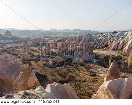 Cappadocia Landscape In Cappadocia Travel, Aerial View.