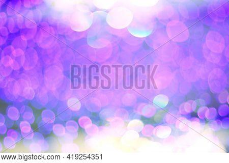 Soft focus brur abstract blinking illumination ultraviolet horizontal background.