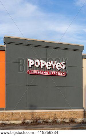 Popeyes Fried Chicken Fast Food Restaurant , Louisiana Kitchen