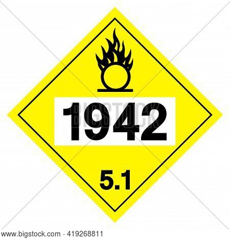 Ammonia Nitrate Un1942 Symbol Sign, Vector Illustration, Isolate On White Background, Label .eps10