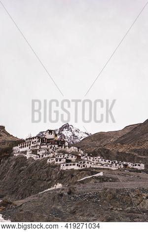 Dikshit Monastery, Diskhit Gompa Tibetan Buddhist Monastery Of The Yellow Hat, Ladakh, Jammu And Kas