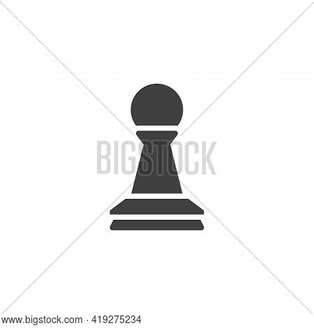 Chess Pawn Vector Icon. Filled Flat Sign For Mobile Concept And Web Design. Chess Piece Glyph Icon.