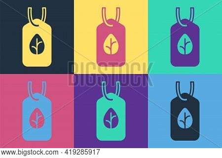Pop Art Vegan Food Diet Icon Isolated Pop Art Background. Organic, Bio, Eco Symbol. Vegan, No Meat,