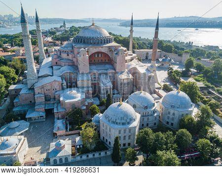 Sophia In Istanbul. Aerial View Summer Landscape