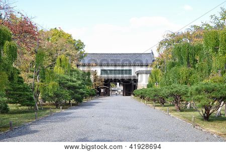 Secondary Gate To The Kyoto Nijo Castle Gardens