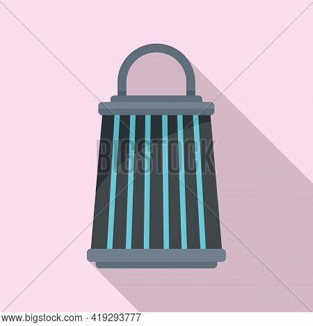 Insect Trap Lamp Icon. Flat Illustration Of Insect Trap Lamp Vector Icon For Web Design