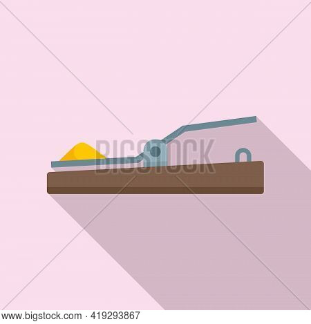Mouse Trap Icon. Flat Illustration Of Mouse Trap Vector Icon For Web Design
