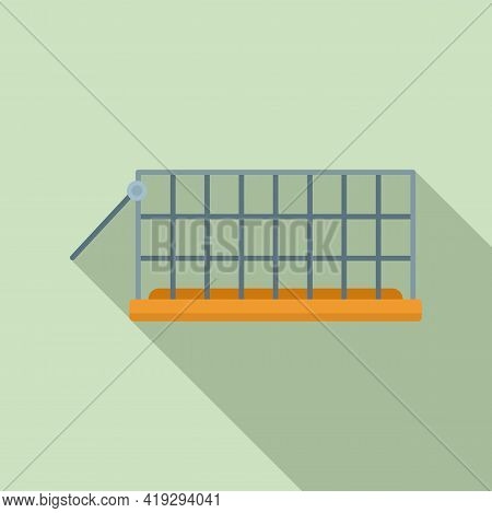Animal Trap Cage Icon. Flat Illustration Of Animal Trap Cage Vector Icon For Web Design