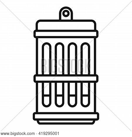 Insect Lamp Icon. Outline Insect Lamp Vector Icon For Web Design Isolated On White Background