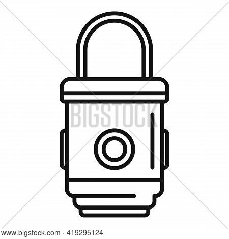 Box Trap Icon. Outline Box Trap Vector Icon For Web Design Isolated On White Background