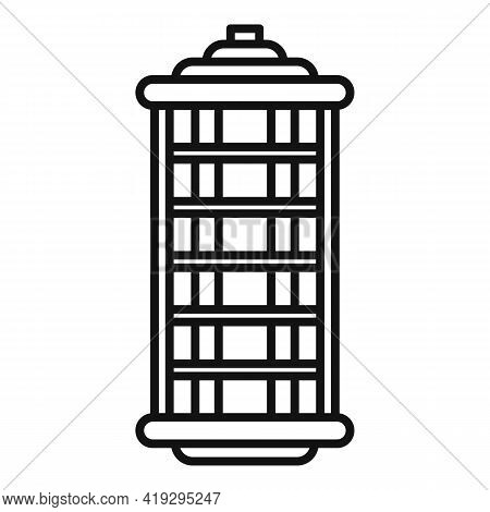 Insect Hunt Lamp Icon. Outline Insect Hunt Lamp Vector Icon For Web Design Isolated On White Backgro
