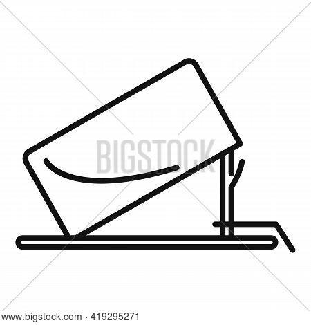 Carton Box Trap Icon. Outline Carton Box Trap Vector Icon For Web Design Isolated On White Backgroun