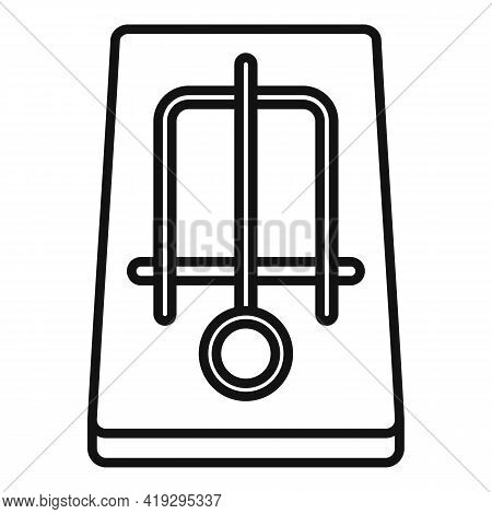 Mousetrap Icon. Outline Mousetrap Vector Icon For Web Design Isolated On White Background