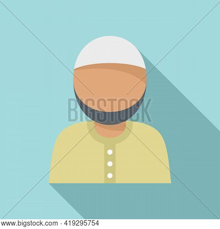 Muslim Immigrant Icon. Flat Illustration Of Muslim Immigrant Vector Icon For Web Design