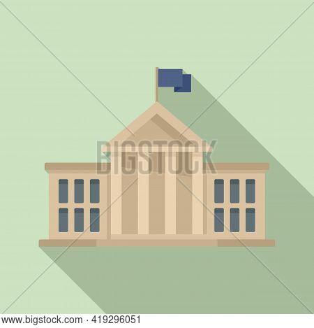 European Union Parliament Icon. Flat Illustration Of European Union Parliament Vector Icon For Web D