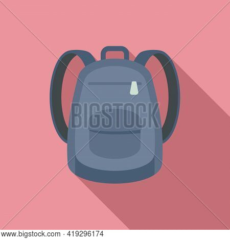 Immigrant Backpack Icon. Flat Illustration Of Immigrant Backpack Vector Icon For Web Design