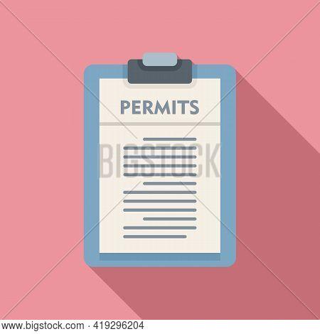 Illegal Immigrants Permits Icon. Flat Illustration Of Illegal Immigrants Permits Vector Icon For Web