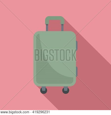 Immigrants Travel Bag Icon. Flat Illustration Of Immigrants Travel Bag Vector Icon For Web Design