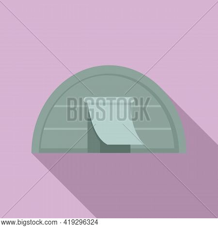 Immigrants Tent Icon. Flat Illustration Of Immigrants Tent Vector Icon For Web Design