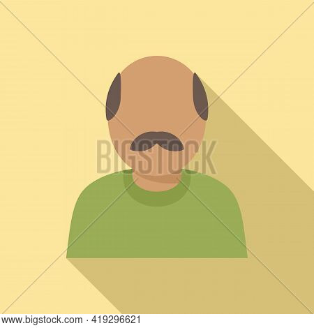 Old Immigrant Icon. Flat Illustration Of Old Immigrant Vector Icon For Web Design