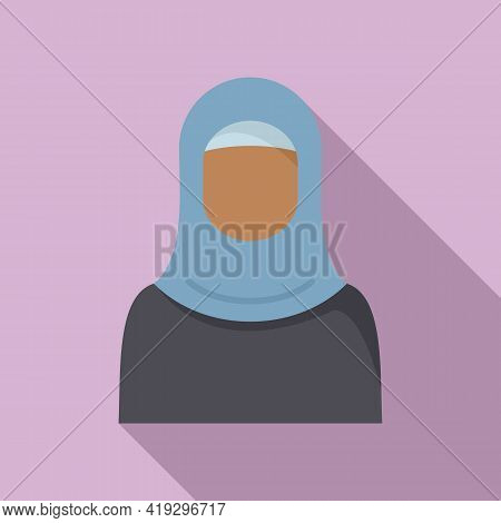 Woman Refugee Icon. Flat Illustration Of Woman Refugee Vector Icon For Web Design