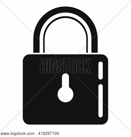 Metal Padlock Icon. Simple Illustration Of Metal Padlock Vector Icon For Web Design Isolated On Whit