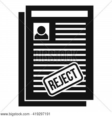 Illegal Immigrant Papers Icon. Simple Illustration Of Illegal Immigrant Papers Vector Icon For Web D