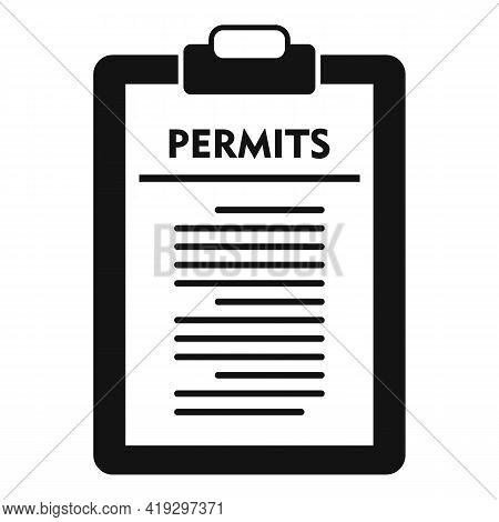 Illegal Immigrants Permits Icon. Simple Illustration Of Illegal Immigrants Permits Vector Icon For W