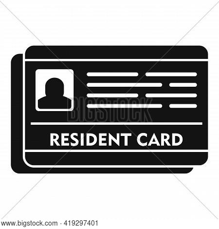 Resident Card Icon. Simple Illustration Of Resident Card Vector Icon For Web Design Isolated On Whit