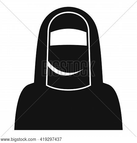 Immigrant Muslim Woman Icon. Simple Illustration Of Immigrant Muslim Woman Vector Icon For Web Desig