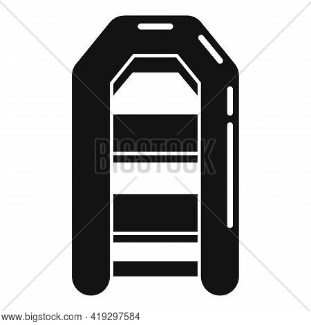 Illegal Rubber Boat Icon. Simple Illustration Of Illegal Rubber Boat Vector Icon For Web Design Isol