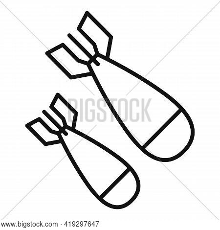 War Bombs Icon. Outline War Bombs Vector Icon For Web Design Isolated On White Background