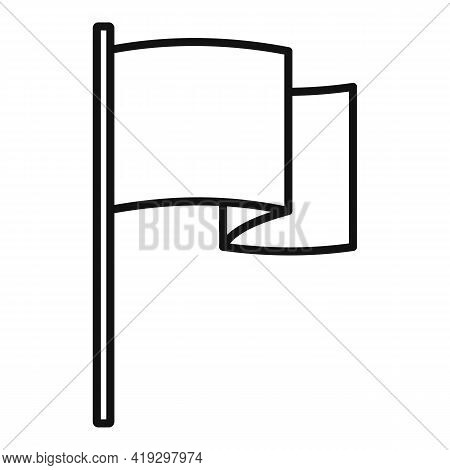 European Union Flag Icon. Outline European Union Flag Vector Icon For Web Design Isolated On White B