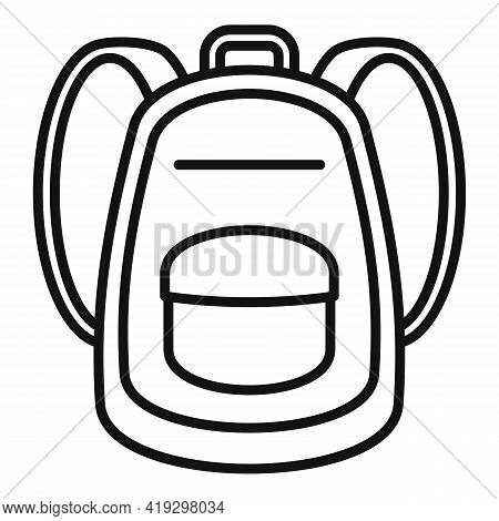 Immigrant Backpack Icon. Outline Immigrant Backpack Vector Icon For Web Design Isolated On White Bac