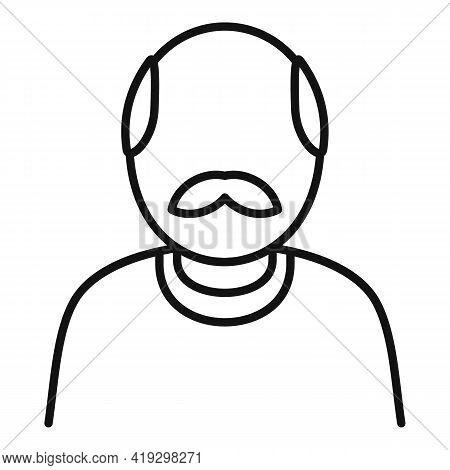 Old Immigrant Icon. Outline Old Immigrant Vector Icon For Web Design Isolated On White Background