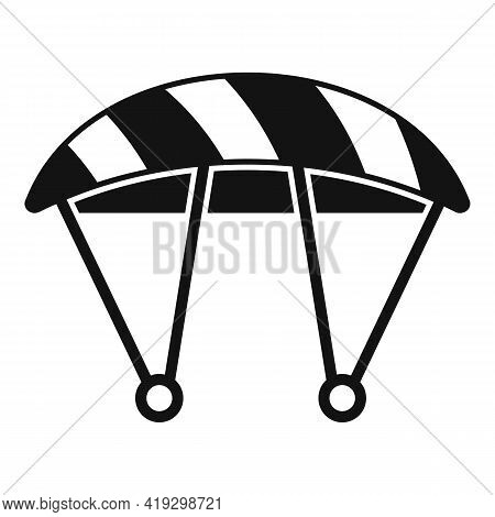 Parachute Icon. Simple Illustration Of Parachute Vector Icon For Web Design Isolated On White Backgr