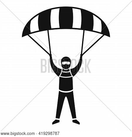 Paratrooper Icon. Simple Illustration Of Paratrooper Vector Icon For Web Design Isolated On White Ba
