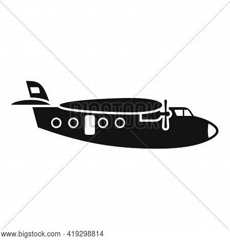 Parachuting Airplane Icon. Simple Illustration Of Parachuting Airplane Vector Icon For Web Design Is