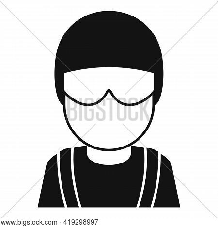 Skydiver Avatar Icon. Simple Illustration Of Skydiver Avatar Vector Icon For Web Design Isolated On