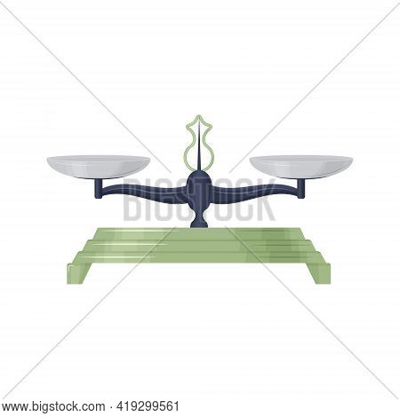 Trade Scales For Weighing Products, And Other Various Items, Consisting Of A Black Case, A Green Sta